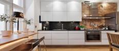Дизайн штор для большой и маленькой кухни