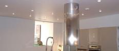 Подвесные потолки из гипсокартона на кухне
