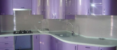 Дизайн интерьера фиолетовой кухни