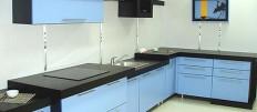 Дизайн кухни голубого цвета