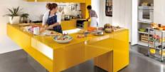 Кухня желтого цвета и ее «совместимость»