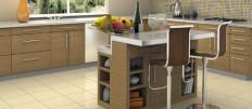 Дизайн напольной плитки на кухни
