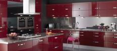 Кухни красно-черного цвета