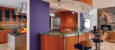 Идеи дизайна открытых кухонь в стиле модерн