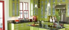 Современная кухня зеленого оттенка