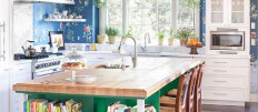 Кухонный остров в интерьере маленькой кухни