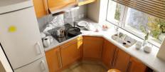 Варианты как обставить маленькую кухню