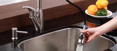 Смеситель для кухни с выдвижным изливом