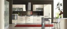 Бежевая кухня в интерьере квартиры