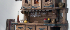 Кухонный буфет для посуды под старину