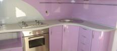 Интерьер кухни в лиловом цвете