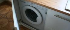 Как встроить стиральную машину в кухню