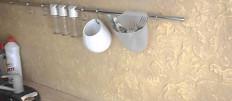 Венецианская штукатурка в интерьере кухни