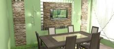 Стены на кухне в обеденной зоне: выбор материала для оформления