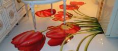 Наливные 3d полы на кухне: фото идеи