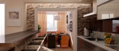 Длинная, но узкая кухня: фото идеи дизайна
