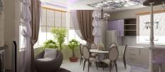 Функциональный интерьер: кухня совмещенная с залом
