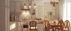 Идеи оформления кухни в французском стиле