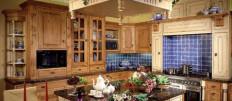 Обустройство кухни в русском стиле