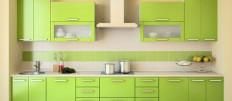 Выбираем кухню цвета лайм для квартиры