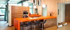 Чем хороша барная стойка между кухней и гостиной