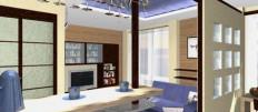 Идеальная планировка кухни студии с барной стойкой