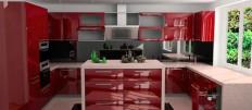 Идеи дизайна П-образной кухни с окном
