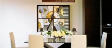Идеи оформления стен на кухне картинами