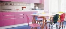 О планировке интерьера кухни цвета фуксии