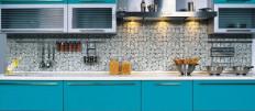 Идеи дизайна кухни цвета морской волны