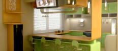 Кухонные гарнитуры с барной стойкой: популярный элемент дизайна