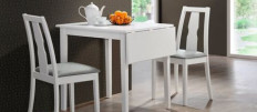 Белые кухонные столы – элегантный предмет интерьера