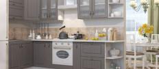 Серый кухонный гарнитур – подбираем цветовую гамму фартука и обоев