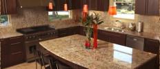 Гранитные столешницы для кухни при оформлении интерьера