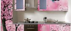 Современные кухни с фотопечатью на фасадах в интерьере