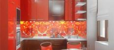 Модные варианты стеклянных стеновых панелей для кухни