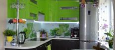 Варианты дизайна кухни зеленых оттенков