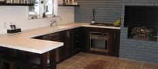 Делаем серые стены в интерьере кухни