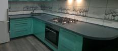 Варианты оформления кухни мятного цвета