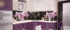 Как оформить кухню в лавандовом цвете