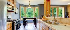 Дизайн двухрядной кухни в современном интерьере