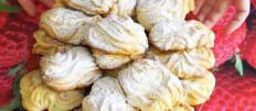Делаем печенье Хризантема через мясорубку