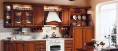 Деревянные кухонные гарнитуры для дома с фасадом и столешницей