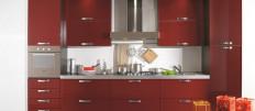 Кухня красного цвета — фото интерьеров