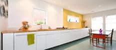 Кухни без навесных шкафов: фото идеи