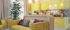 Как сделать зонирование кухни и гостиной