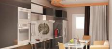 Идеи как обустроить кухни 13 квадратных метров