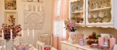 Используем стиль шебби шик в интерьере кухни