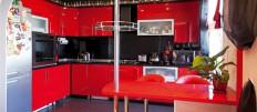 Чем хороша красно-черная кухня в интерьере