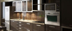 Как подобрать цвет кухонного гарнитура под цвет стен